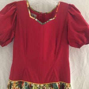 Hawaiian Muu Muu Aloha Dress Tailor-Made OOAK